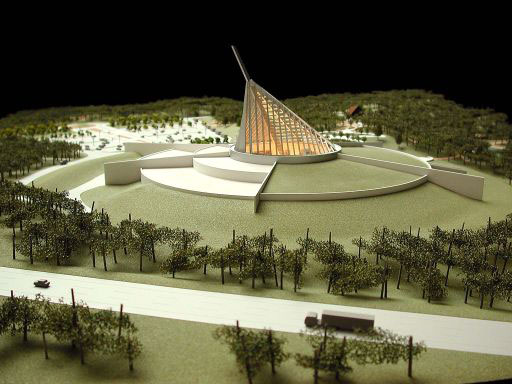 Model of the National Museum of the Marine Corps